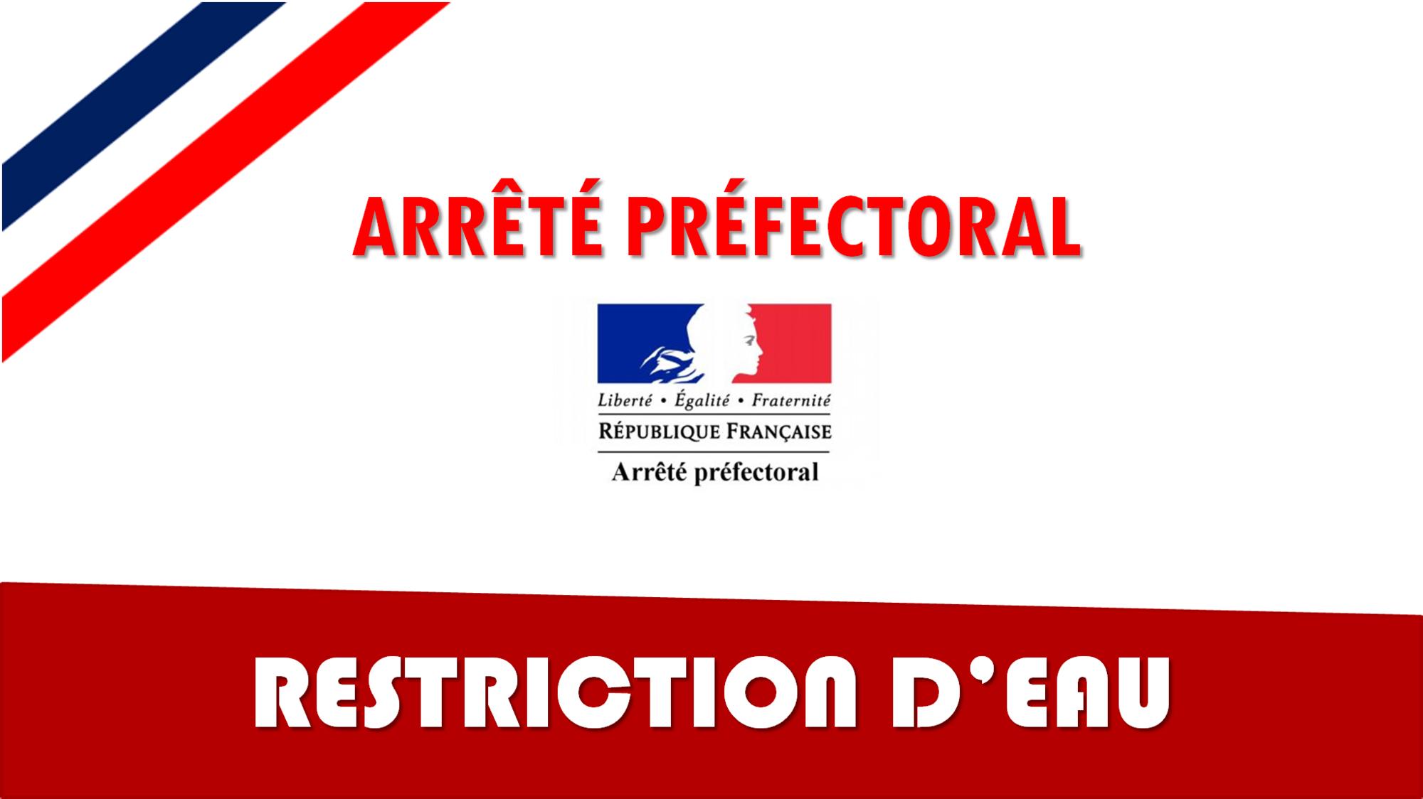 actu RESTRICTION D4EAU